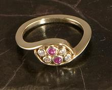 Nevis Ring Ruby Diamond